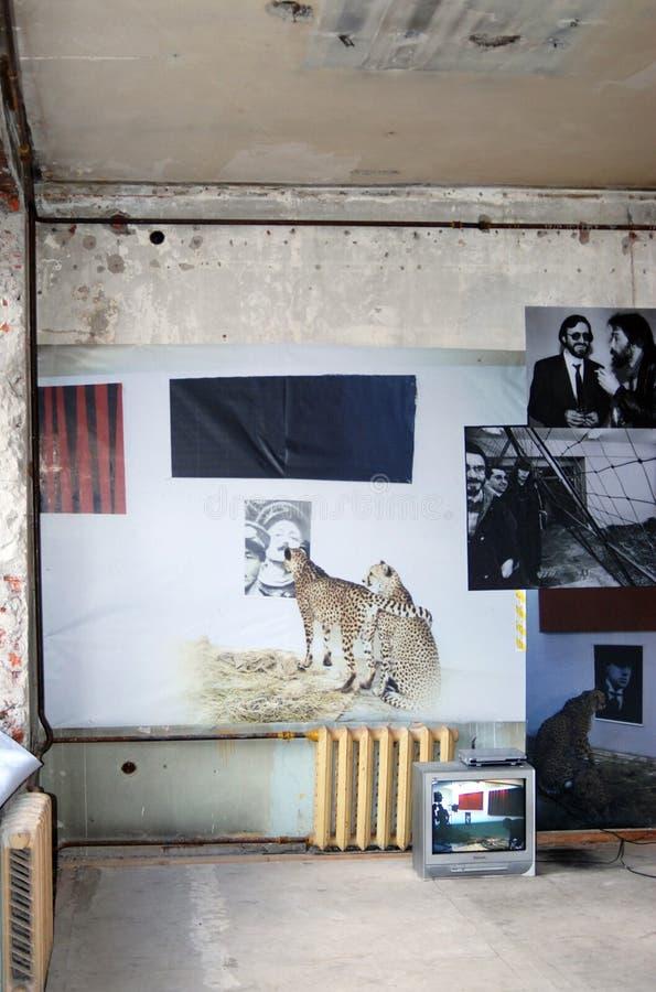 Exposición de arte contemporáneo en Moscú foto de archivo