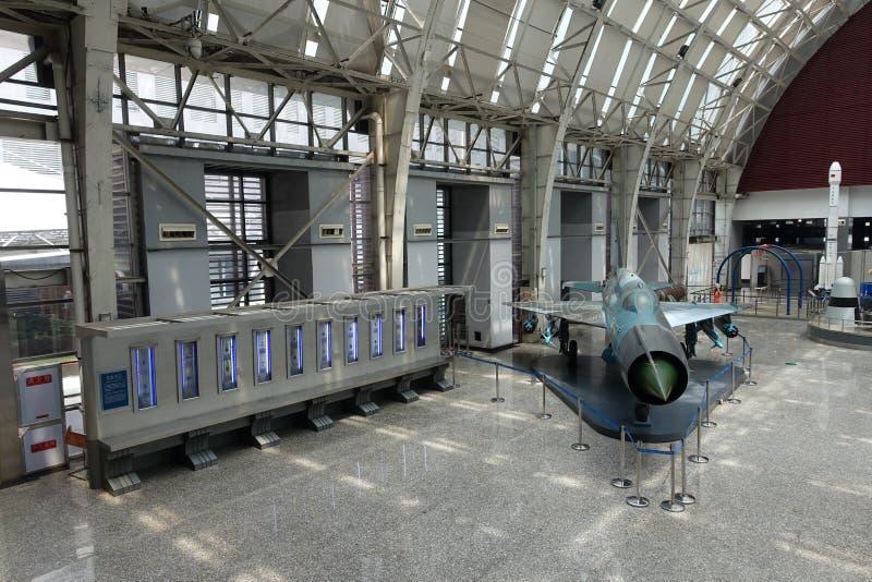 Exposición de la aviación en museo de la ciencia y de la tecnología de Sichuan imágenes de archivo libres de regalías