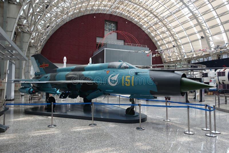 Exposición de la aviación en museo de la ciencia y de la tecnología de Sichuan fotografía de archivo libre de regalías