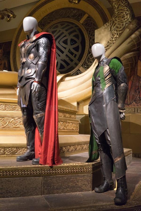 Exposición de la maravilla de Thor And Loki Customes Brisbane fotografía de archivo