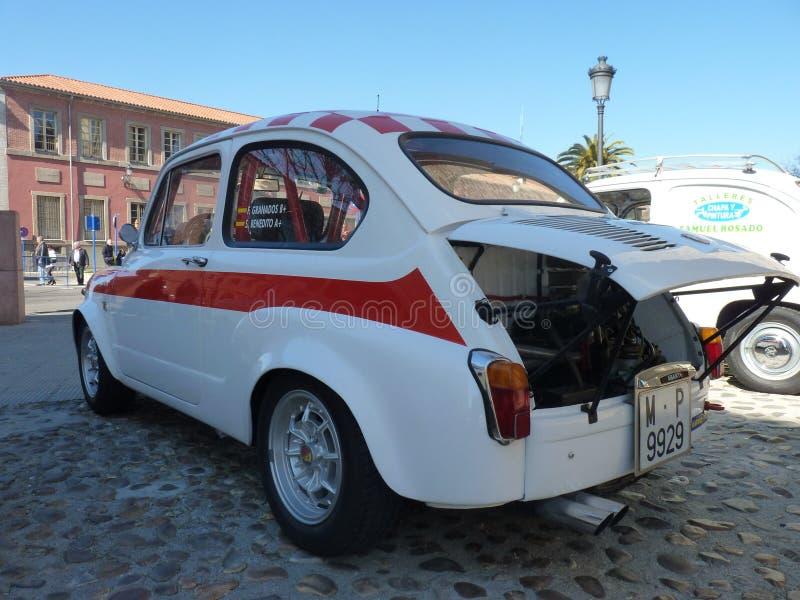 Exposición de los coches del vintage, el 24 de febrero de 2018 en Talavera de la Reina, España imagen de archivo libre de regalías