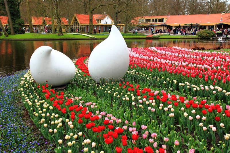 Exposición de los tulipanes en el parque Keukenhof Países Bajos imágenes de archivo libres de regalías