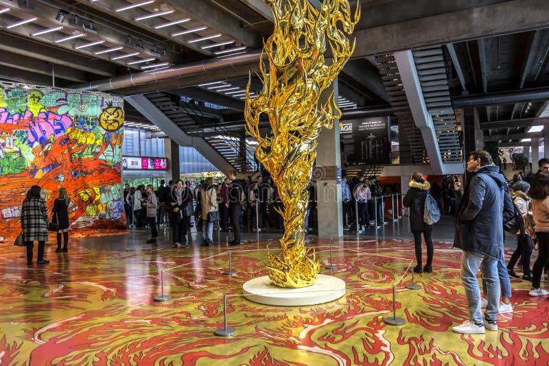 Exposición de Takashi Murakami fotografía de archivo