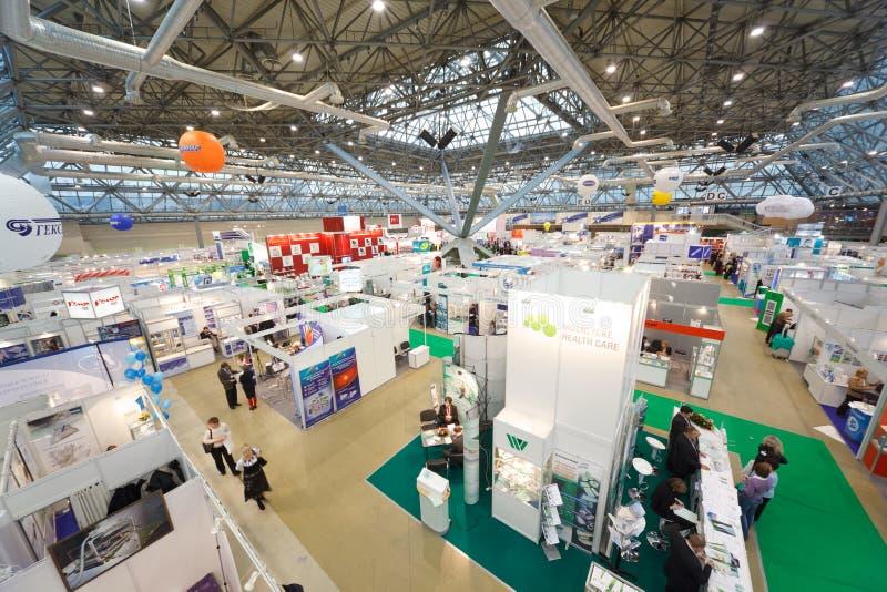 Exposición de tecnologías médicas en Rusia fotos de archivo