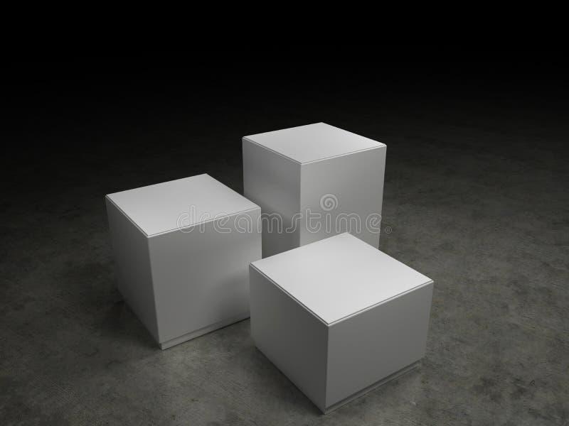 Exposición de un producto ilustración del vector
