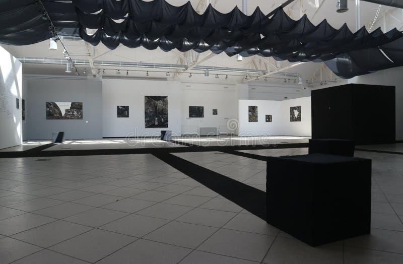 Exposición del arte contemporáneo moderno imagen de archivo