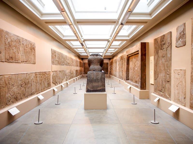 Exposición del arte del asirio en el museo británico, Londres, Reino Unido fotografía de archivo libre de regalías