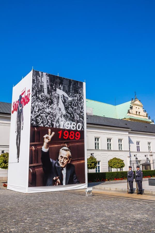 Exposición en el palacio presidencial fotografía de archivo libre de regalías