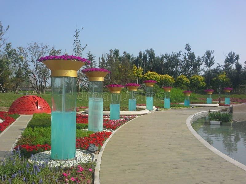 Exposición hortícola internacional de China Jinzhou imagen de archivo