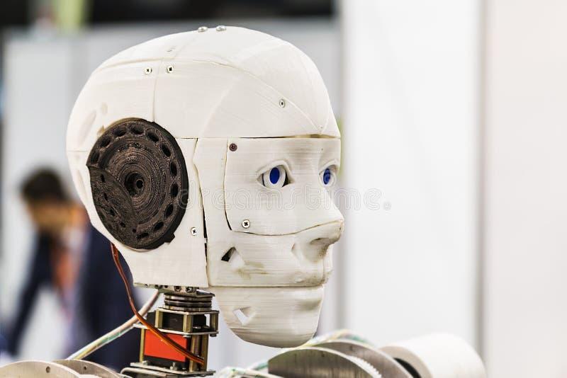 Exposición internacional de la robótica y de las tecnologías avanzadas imagen de archivo