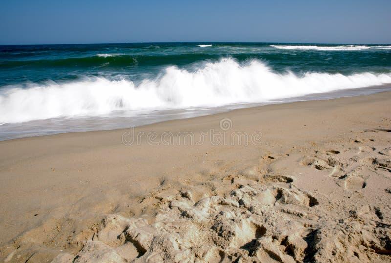 Exposición larga de Sandy Hook Beach New Jersey imágenes de archivo libres de regalías