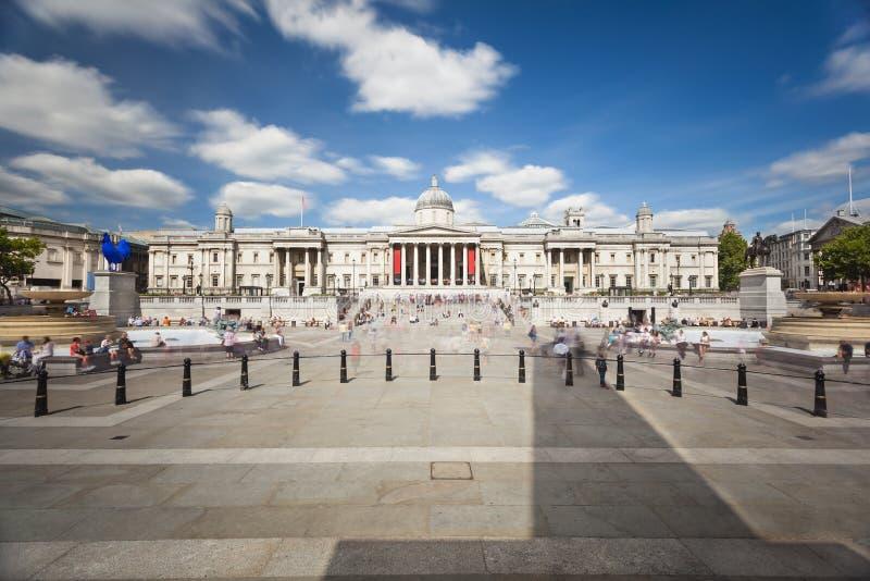 Exposición larga de Trafalgar Square, Londres foto de archivo libre de regalías
