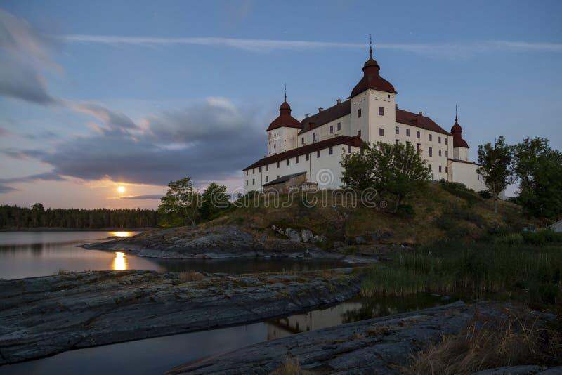 Exposición larga del castillo de Lacko imagenes de archivo