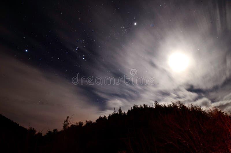 Exposición larga del cielo fotos de archivo
