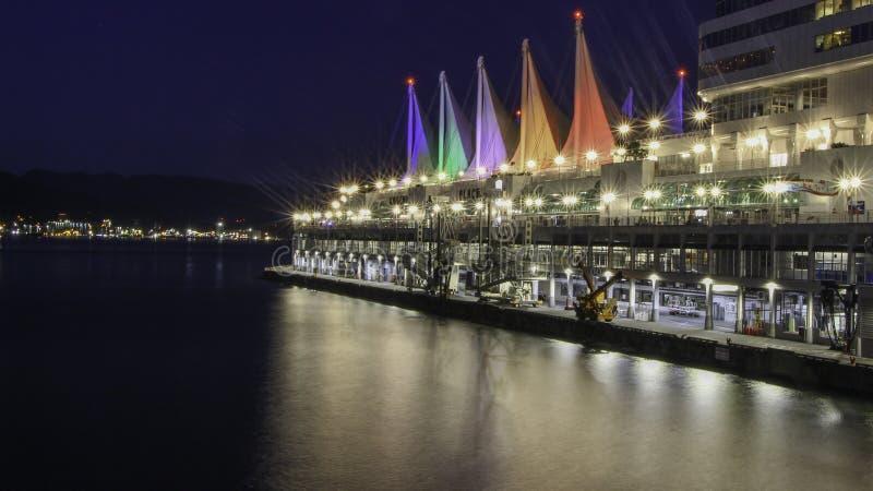 Exposición larga del lugar Vancouver de Canadá imágenes de archivo libres de regalías