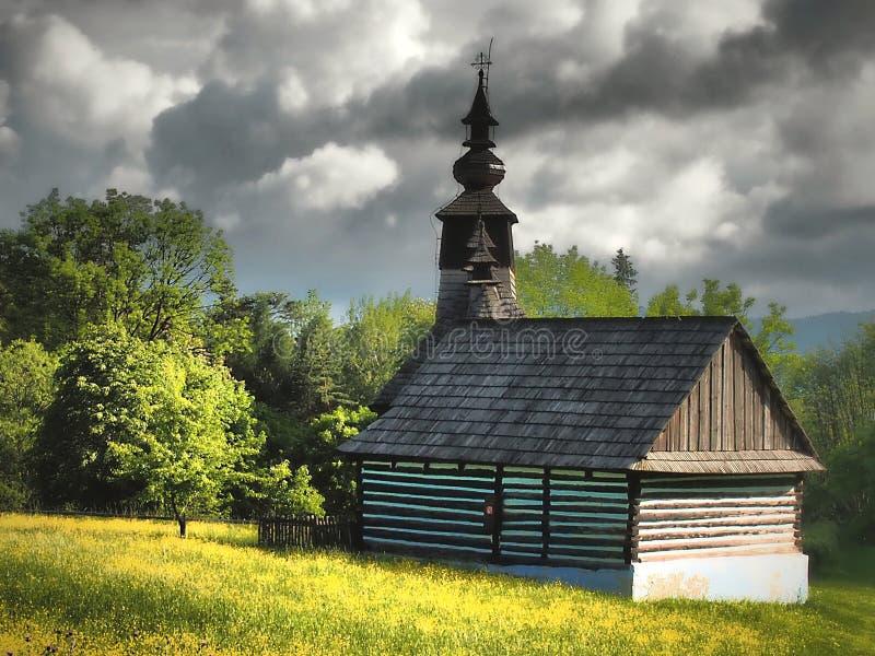 Exposición natural etnográfica - museo al aire libre en STARA LUBOVNA - ESLOVAQUIA imagen de archivo libre de regalías