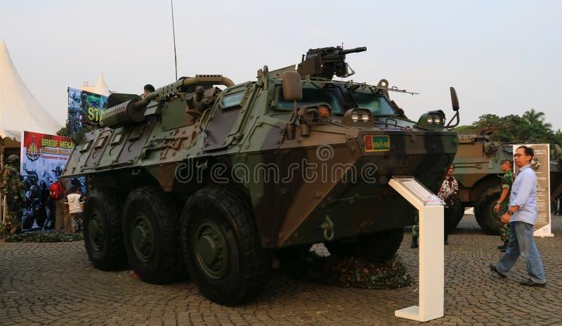 Exposición primaria del ` s del sistema de defensa de las armas del ejército indonesio fotos de archivo libres de regalías