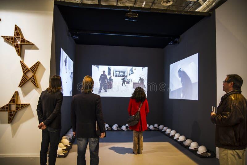 Exposición video. Comience 2014 ARCO, el contemporáneo internacional fotografía de archivo