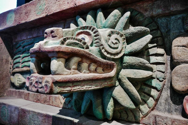Exposiciones en el Museo Nacional de la antropología, Ciudad de México foto de archivo libre de regalías