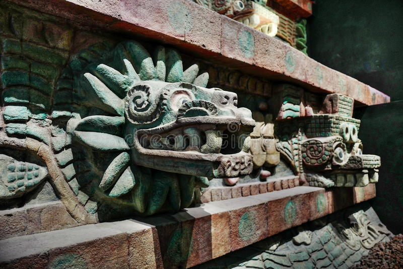 Exposiciones en el Museo Nacional de la antropología, Ciudad de México fotografía de archivo libre de regalías