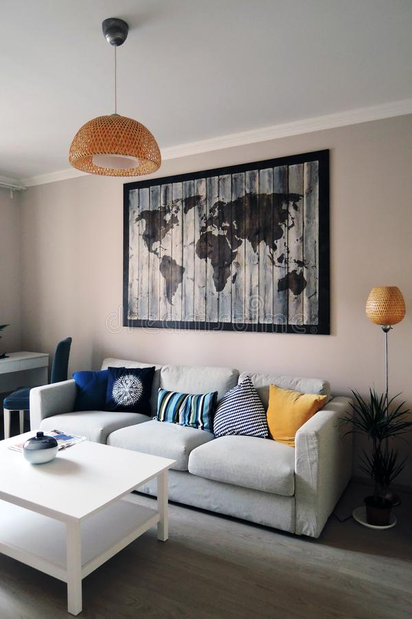 Exposition of apartments interiors royalty free stock images