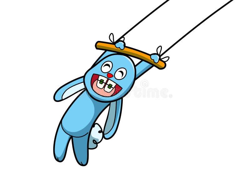 Exposition bleue de lapin illustration libre de droits