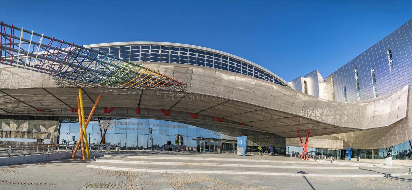 Trade Fairs and Congress Center in Malaga, Spain royalty free stock photo
