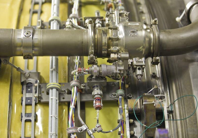 Exposition détaillée d'un réacteur. image stock