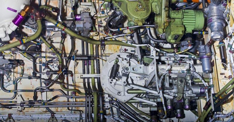 Exposition détaillée des pièces d'aéronefs. photographie stock libre de droits