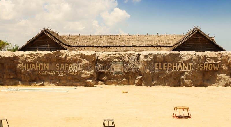 Exposition d'Éditorial-éléphant au safari de HuaHin, Thaïlande images libres de droits