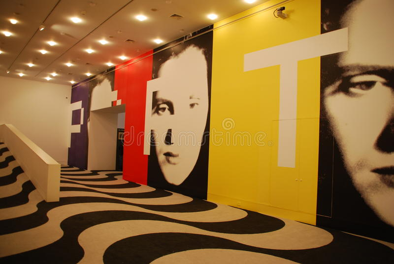 Exposition d'Amalia Rodrigues à CCB à Lisbonne images libres de droits
