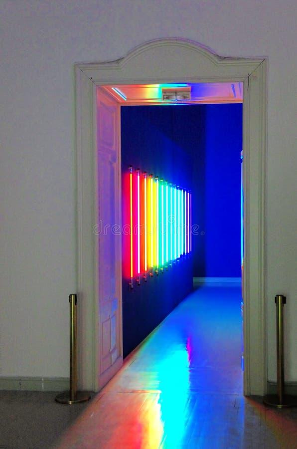 Exposition d'art contemporain dans Kunsthalle Budapest images libres de droits