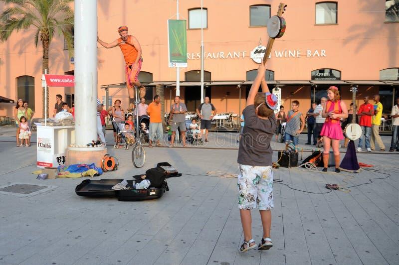 Exposition d'artistes de rue image libre de droits