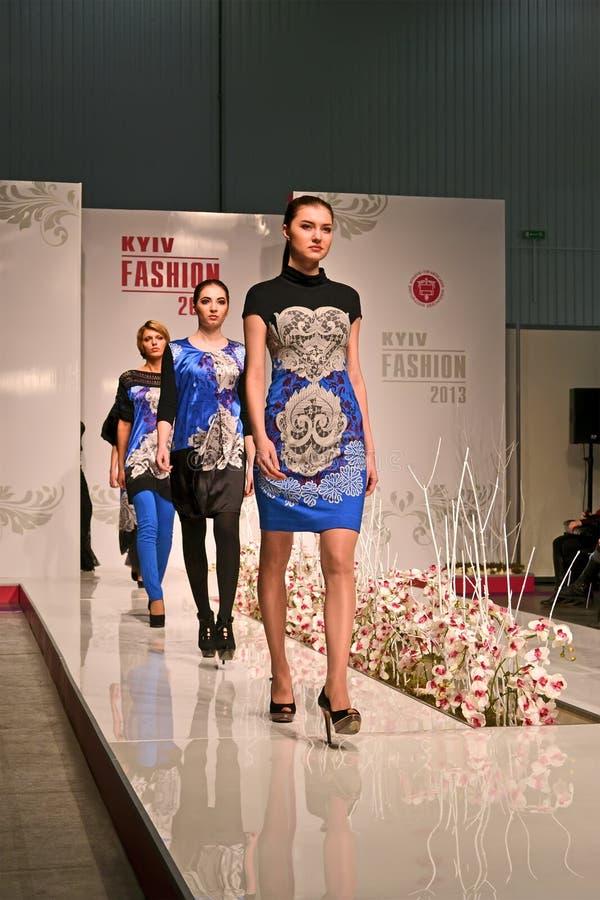 Exposition d'International de la mode 2013 de Kyiv, photographie stock libre de droits