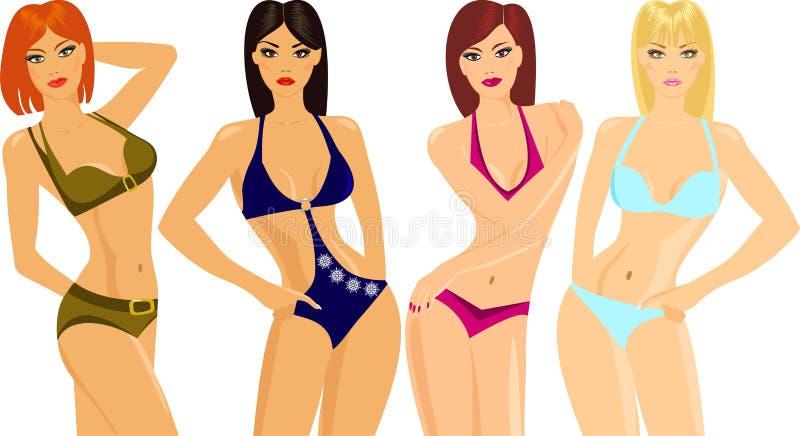 Exposition de bikini illustration de vecteur