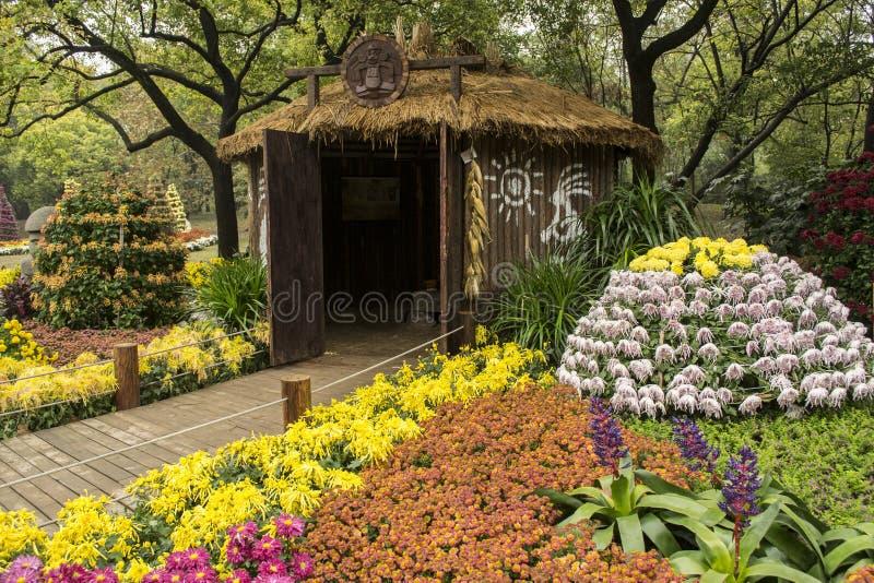 Exposition de chrysanthème de Changhaï images libres de droits