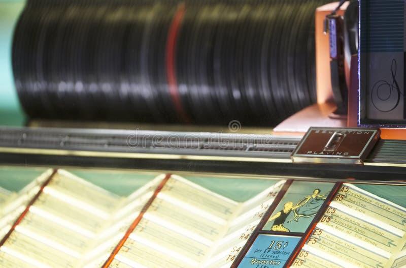 Exposition de collection de tourne-disque de musique de Seeburg de cru de juke-box rétro photo libre de droits