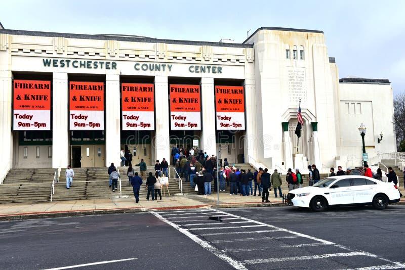 Exposition de couteau d'arme à feu de New York le comté de Westchester images libres de droits