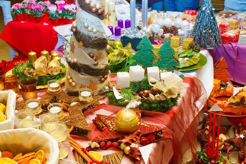 Exposition de décoration de Noël photos stock