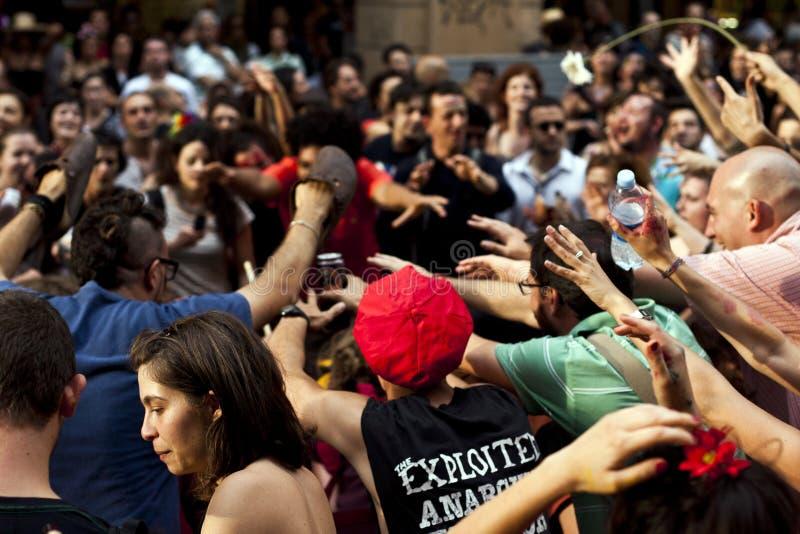 Exposition de défilé dans la rue photographie stock libre de droits