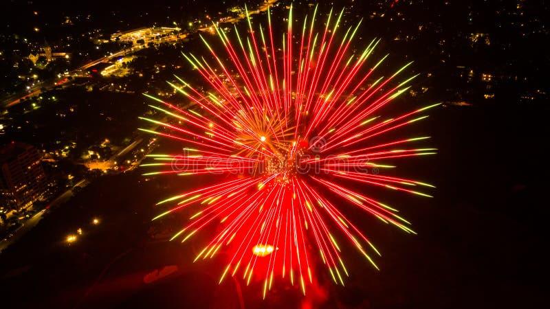 Exposition de feu d'artifice de San Antonio image libre de droits