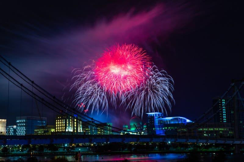 Exposition de feux d'artifice de nouvelle année photos libres de droits