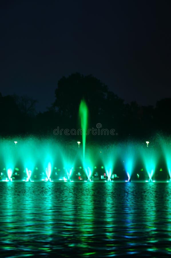 Exposition de fontaine de Wroclaw image libre de droits