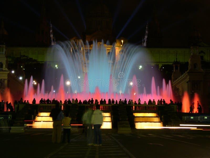 Exposition de fontaine et de lumière image libre de droits