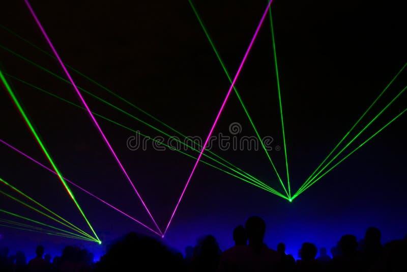 Exposition de laser photographie stock