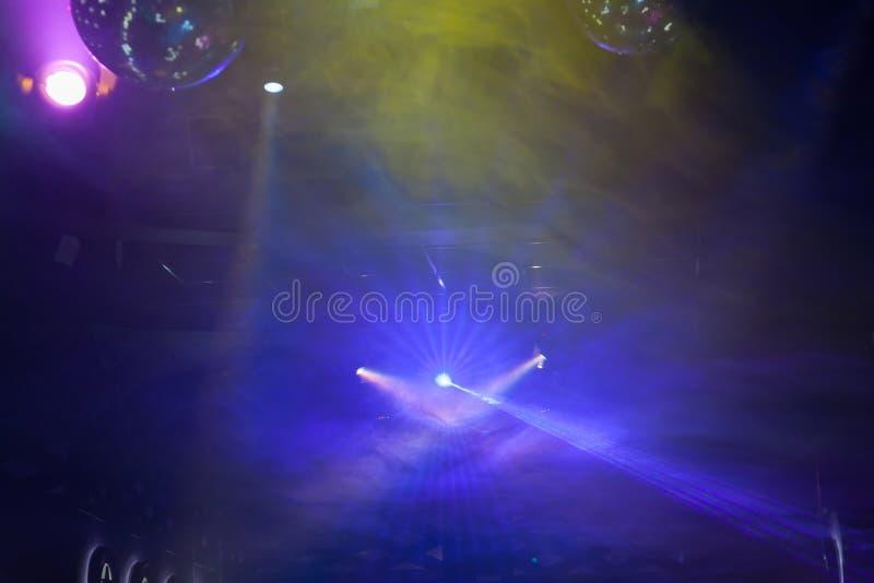 Exposition de lumière de disco, lumières d'étape image stock