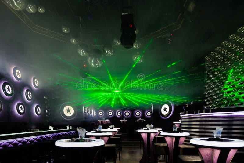 Exposition de lumière de disco, lumières d'étape images libres de droits