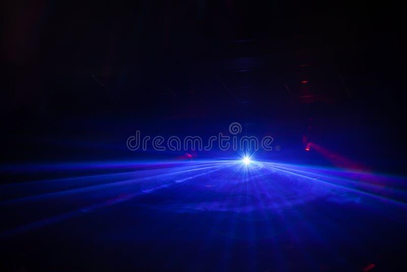 Exposition de lumière de disco, lumières d'étape images stock