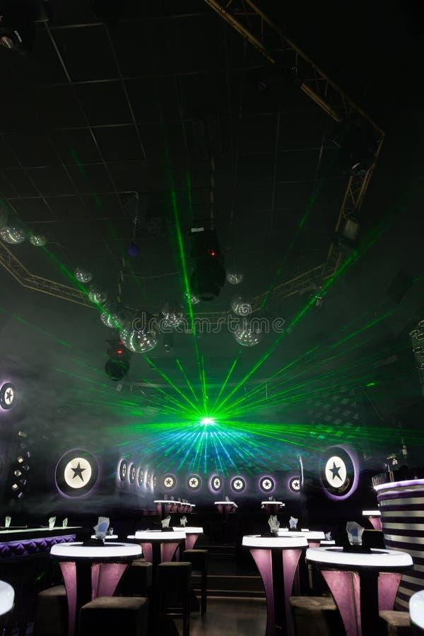 Exposition de lumière de disco, lumières d'étape photos stock