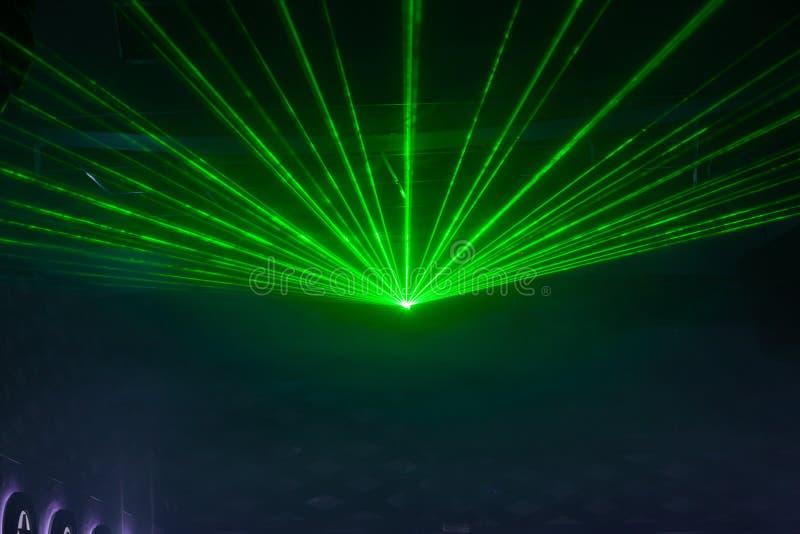 Exposition de lumière de disco, lumières d'étape photographie stock libre de droits